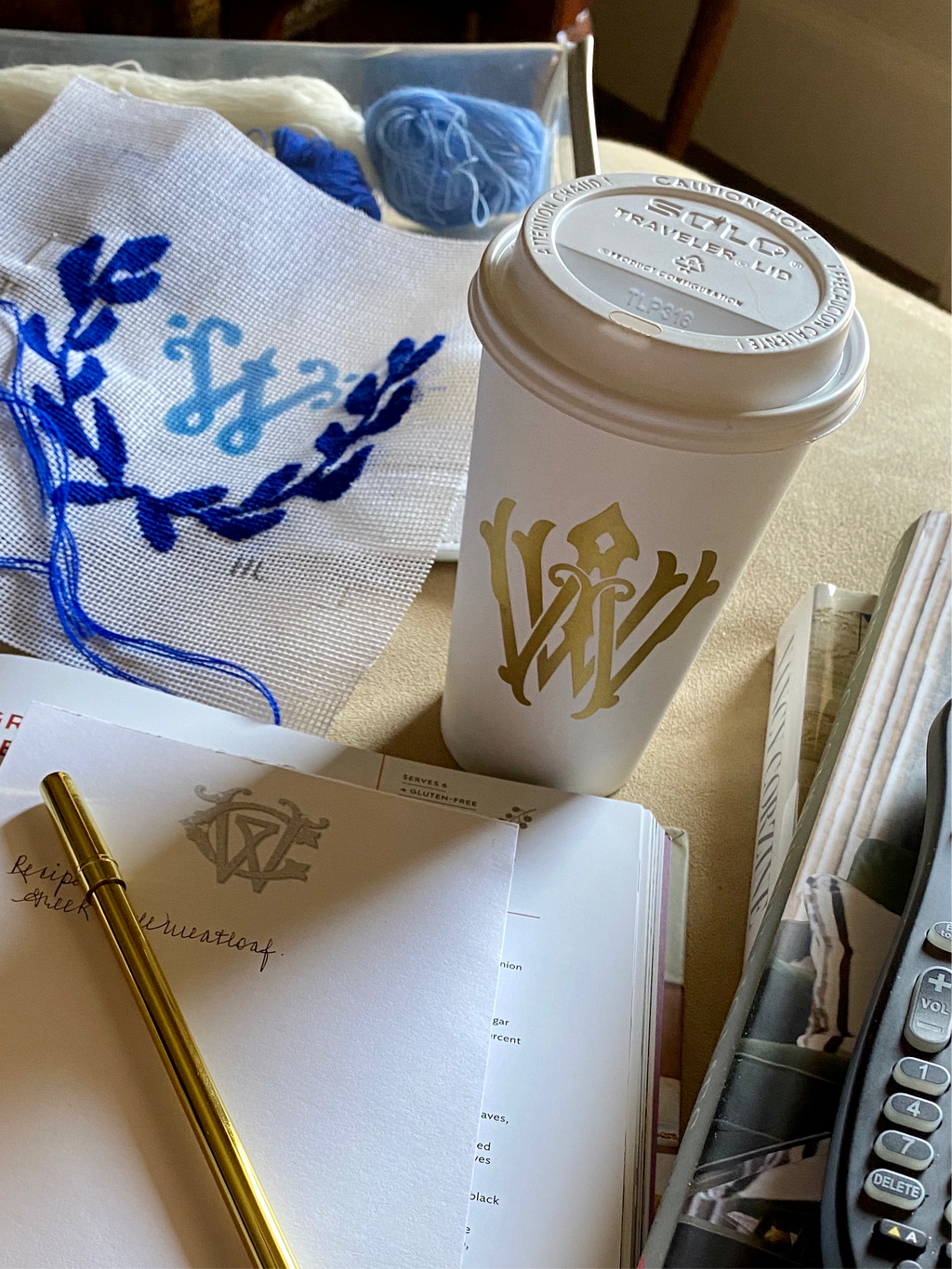 Monogram Coffee Cups
