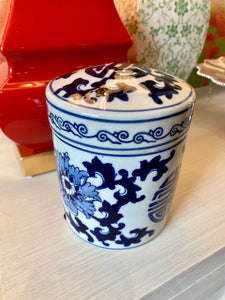 Blue and White Candle