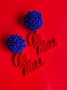 Ole Miss Earrings