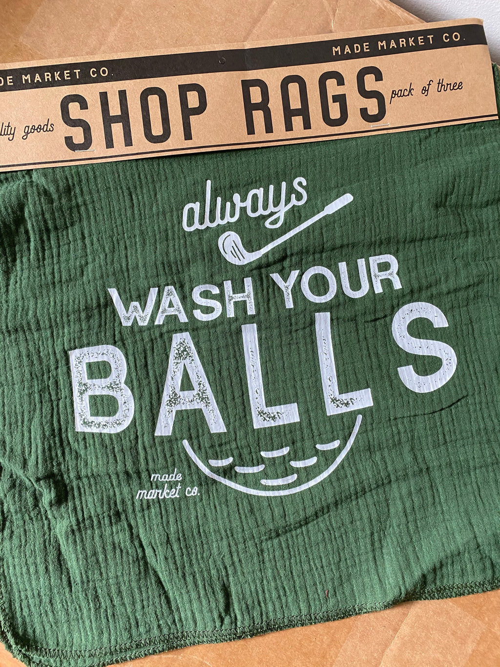 Wash Your Balls Towel
