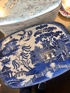 Blue Willow Melamine Platter