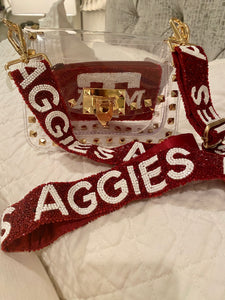 Aggies Beaded Purse Strap