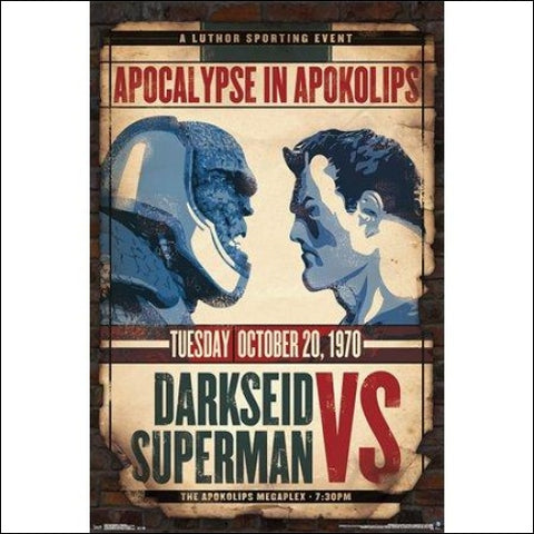 24x36 Darkseid vs Superman Poster and Poster Mount Bundle - Trends International 0882663620593