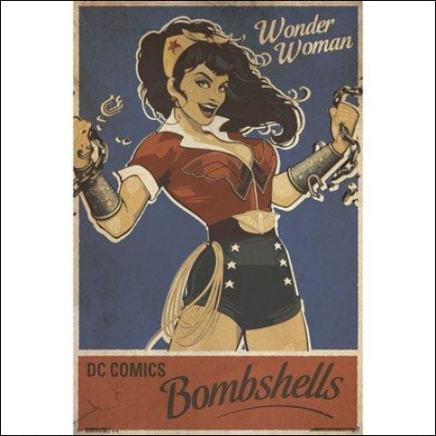 24x36 Wonder Woman - Bombshell Poster and Poster Mount Bundle - Trends International 0882663621132