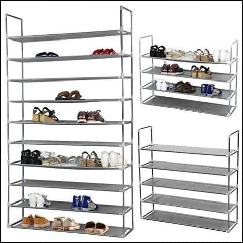 50 Pair Free Standing 10 Tier Shoe Tower Rack Storage Organizer - Free Standing Shoe Racks 0761691108139
