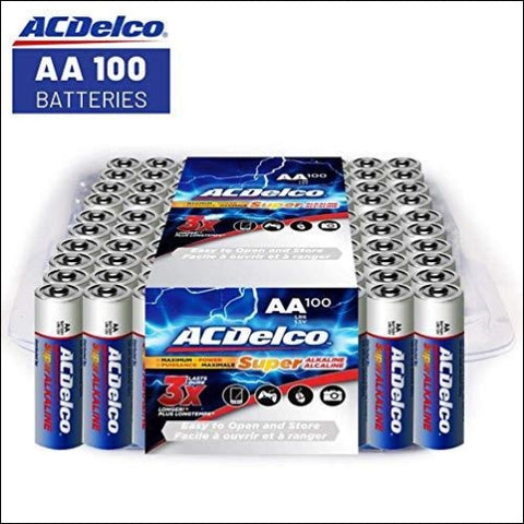 ACDelco AA Super Alkaline Batteries in Recloseable Package 100 Count - ACDelco 698895831009