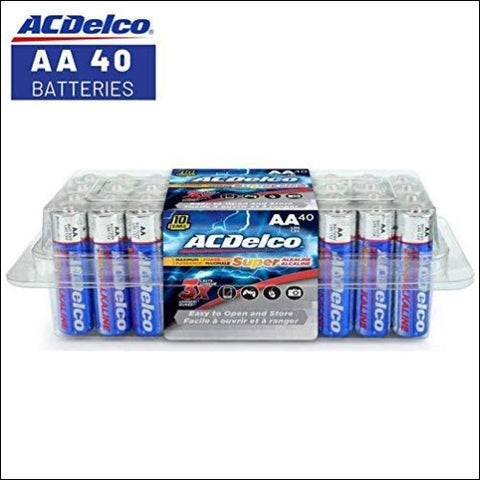 ACDelco AA Super Alkaline Batteries In Recloseable Package 40 Count - ACDelco 683969882322