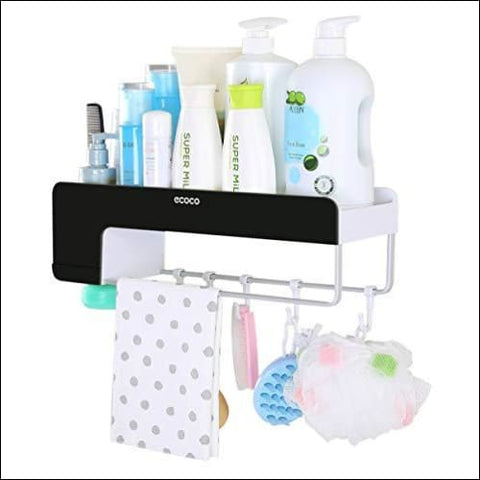 Adhesive Bathroom Shelf Storage Organizer Wall Mount No Drilling Shower Shelf Kitchen Storage Basket Rack Shelves Shower Caddy - iHEBE