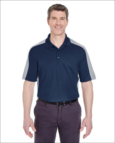 Adult Cool & Dry Stain-Release Two-Tone Performance Polo - NAVY/ SILVER / XL - UltraClub 00882849482298