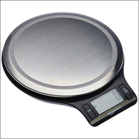 AmazonBasics Stainless Steel Digital Kitchen Scale with LCD Display Batteries Included - AmazonBasics 841710166651