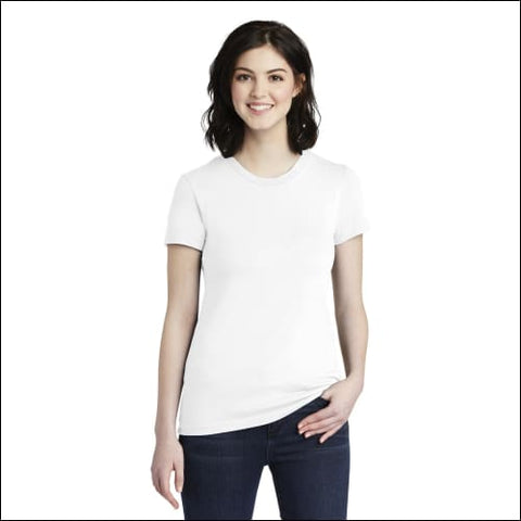 American Apparel Womens Fine Jersey T-Shirt. 2102W - White / S - American Apparel 821780678636