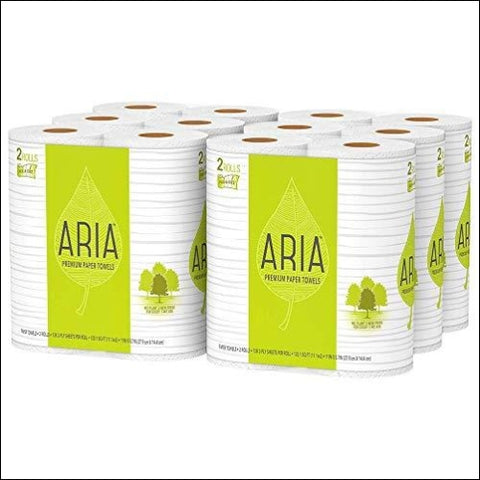 Aria Premium Earth Friendly Paper Towels 12-Count Pick A Size 12=29 Regular Rolls Eco Friendly Paper Towels - ARIA 30400569197