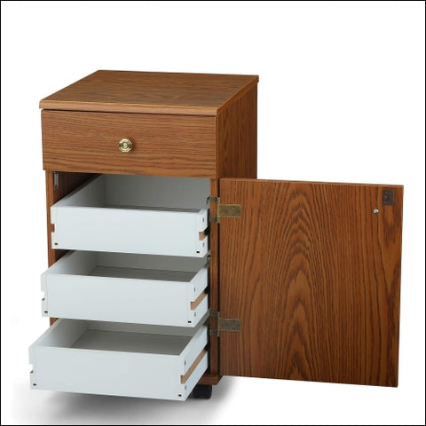 Arrow Sewing Cabinets 800 Suzi Four Drawer Sewing Storage Cabinent Oak - Arrow Sewing Cabinets 0046914498564