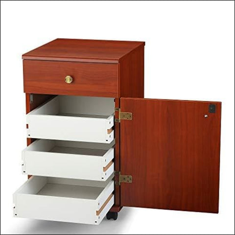 Arrow Sewing Cabinets 802 Suzi Four Drawer Sewing Storage Cabinent Cherry - Arrow Sewing Cabinets 0888817070771