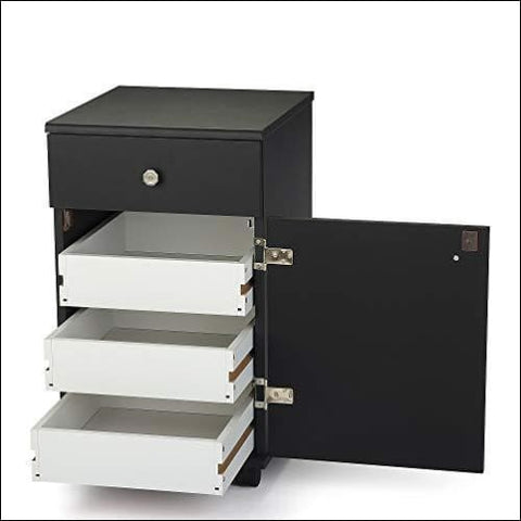 Arrow Sewing Cabinets 803 Suzi Four Drawer Sewing Storage Cabinent Black - Arrow Sewing Cabinets 0650873008032