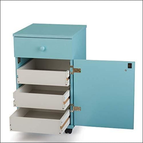 Arrow Sewing Cabinets 809 Suzi Four Drawer Sewing Storage Cabinent Blue - Arrow Sewing Cabinets 0650873080908