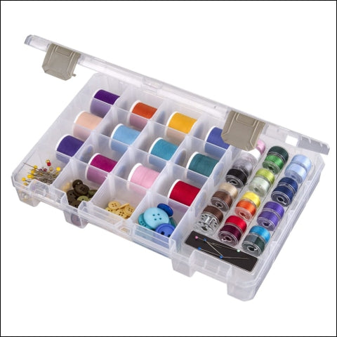 ArtBin Sew-Lutions Bobbin/Supply Box - Clear Sewing Storage Container 6911AB - ArtBin 0046958993322