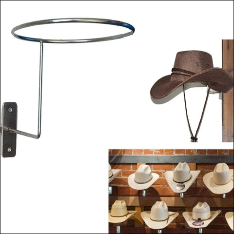 Auxphome Wall-Mounted Silver Metal Hat amp; Wig Display Racks/cowboy Hat Rack Cowboy - AUXPhome 0742025069814