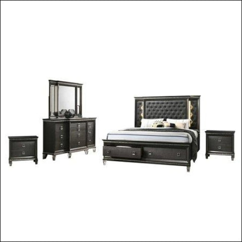 Bellagio 5pc Queen Bedroom Set with 2 Night Stand - Best Quality Furniture 0687765716164