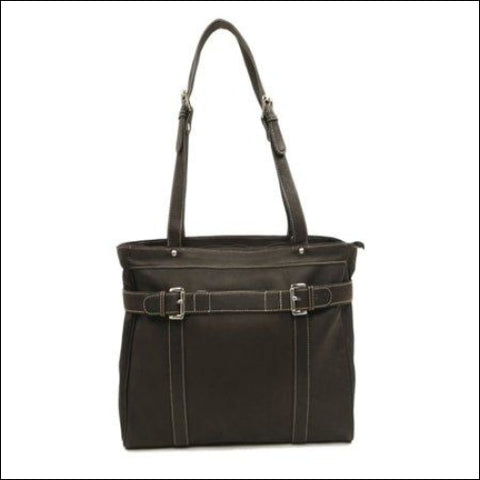 BELTED COMPUTER TOTE - Piel Leather 0721502276037