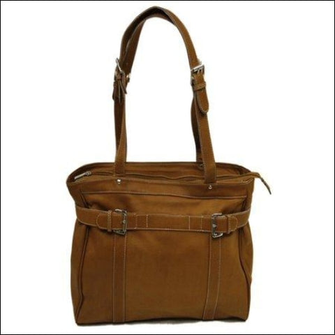 BELTED COMPUTER TOTE - Piel Leather 0721502276013