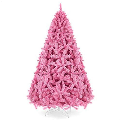 Best Choice Products 6ft Artificial Christmas Full Fir Tree Seasonal Holiday Decoration w/ 1 477 Branch Tips Foldable Stand Pink - Best