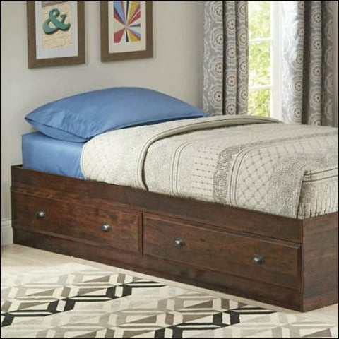 Better Homes & Gardens Leighton Mates Kids Storage Bed Twin Rustic Cherry - Better Homes & Gardens 0042666029339