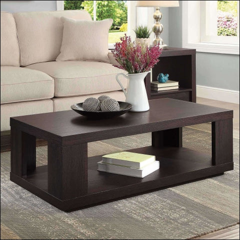 Better Homes & Gardens Steele Coffee Table with Spacious Lower Shelf Espresso Finish - Better Homes & Gardens 0764053524622