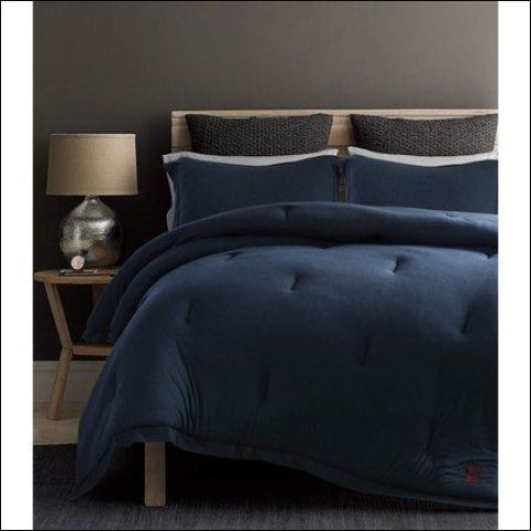 Beverly Hills Polo Club 3 Pieces Jersey Knit Comforter Set - Beverly Hills Polo Club 0847420042780