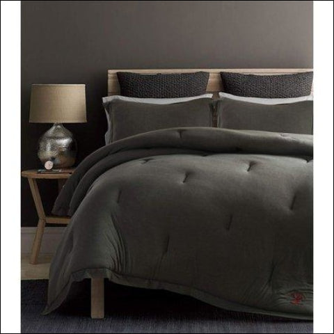 Beverly Hills Polo Club 3 Pieces Jersey Knit Comforter Set - Beverly Hills Polo Club 0847420042803