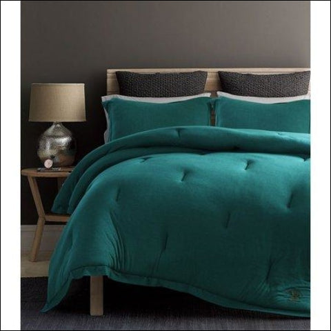 Beverly Hills Polo Club 3 Pieces Jersey Knit Comforter Set - Beverly Hills Polo Club 0847420042841