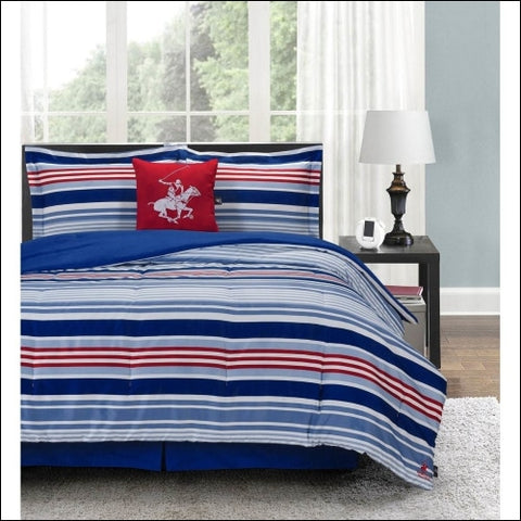 Beverly Hills Polo Club 5-Piece Comforter Set - Beverly Hills Polo Club 0847420040694