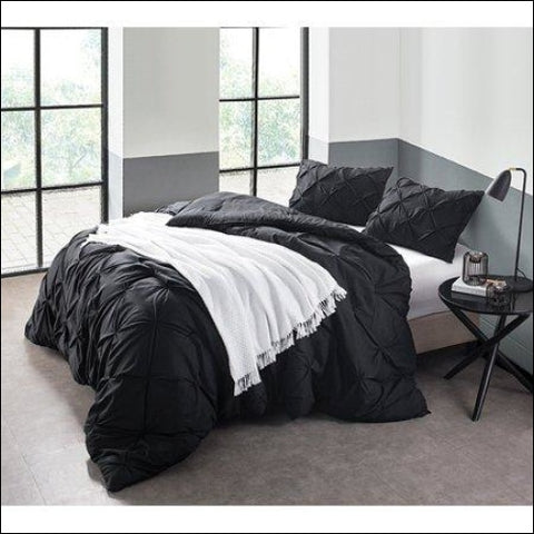 BYB Black Pin Tuck Comforter - Byourbed 0843249124249