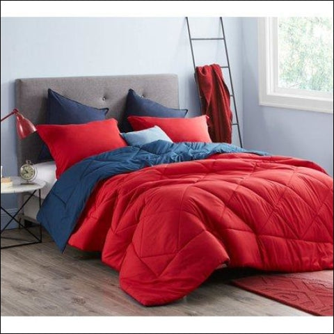 BYB Cherry Red/Nightfall Navy Comforter - Byourbed 0843249158954