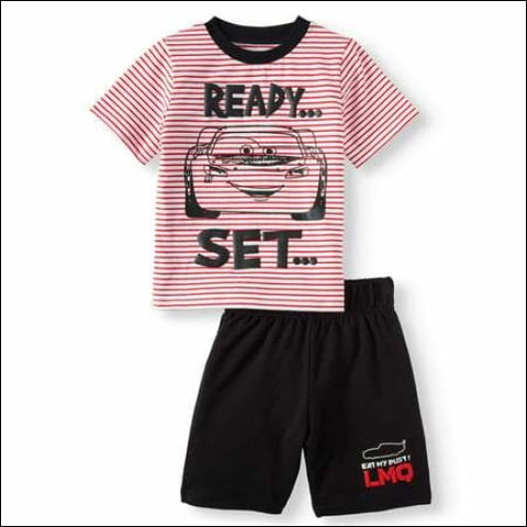 Cars T-Shirt & Shorts 2pc Outfit Set (Toddler Boys) - Disney Pixar Cars 0193058015697