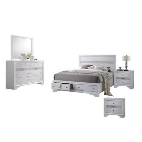Catherine - 5pc Bedroom Set with 2 Night Stand 2 Drawer FB & Jewelry Drawer - Best Quality Furniture 0687765712173