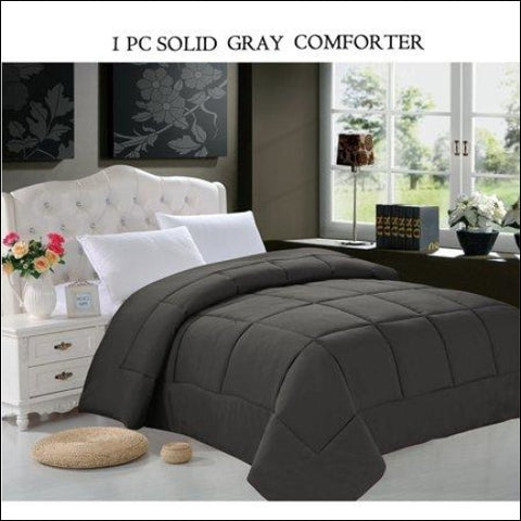 Celine Line High Quality Double-Filled Comforter Full/Queen , Gray,Elegant Comfort,[product_size],[product_color]