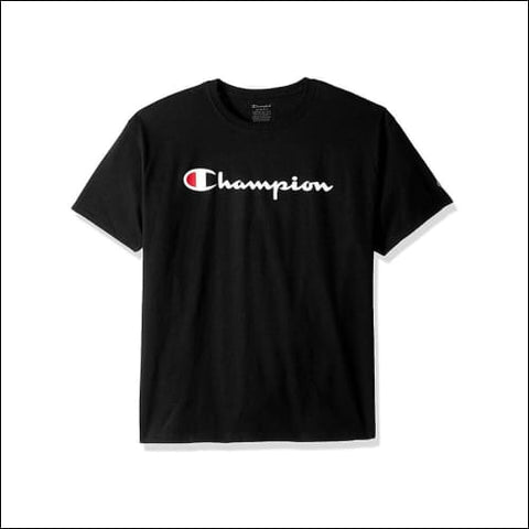 Champion Boys Jersey Tee Script Logo - Black / S - Champion 0192503432959