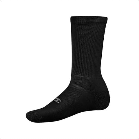 Champion Double Dry® Performance Mens Crew Socks 6-Pack - Black / 43751 - Champion 038257074154