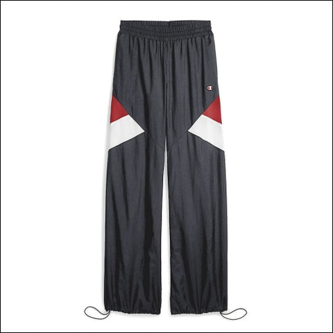 Champion Life® Womens Nylon Warm Up Pants - Indigo Screen/Red Spark/White / XS - Streetwear 0192503000000