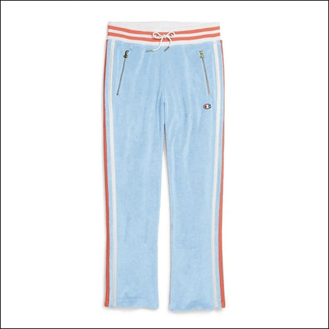 Champion Life® Womens Terry Warm Up Slim Flare Pants - Ocean Front Blue / XS - Streetwear 0192503000000