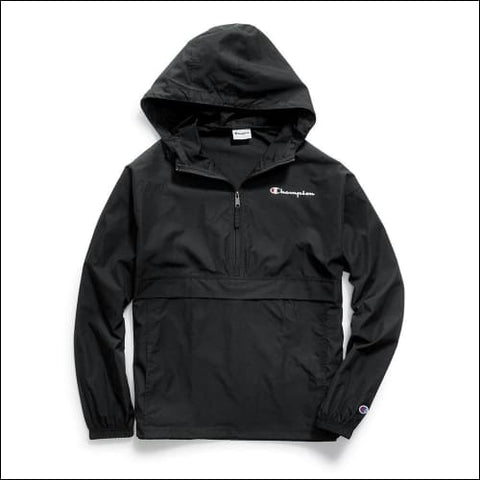 Champion Mens Packable Jacket - Black / L - Champion 0738994735966