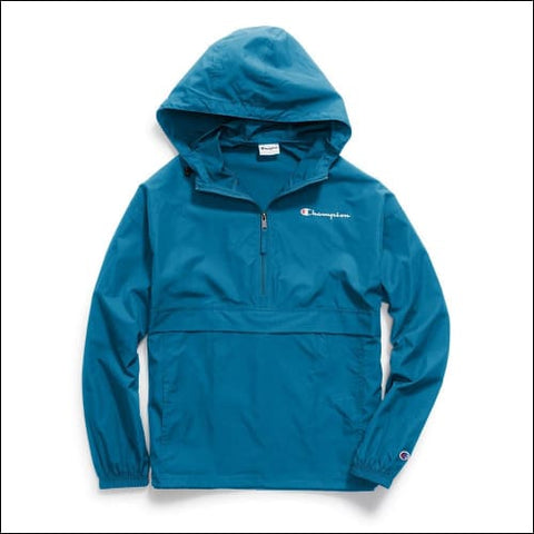 Champion Mens Packable Jacket - Deep Hotline Blue / S - Champion 0192503102555