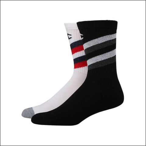 Champion Mens Performance Crew Socks 2-Pack - White Color Front Assorted / 43751 - Champion 0038257132007