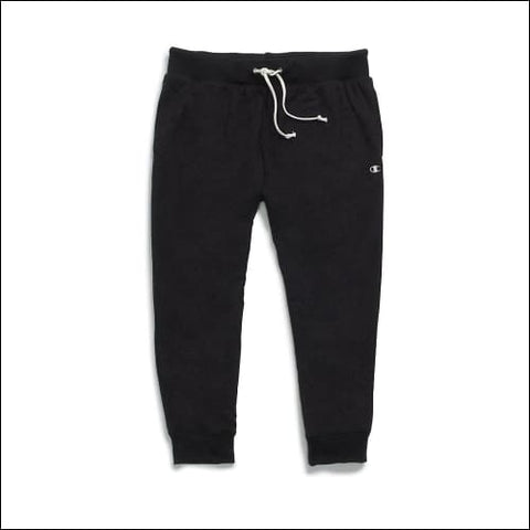 Champion Womens French Terry Jogger Capris - Black / S - Champion 090563290048