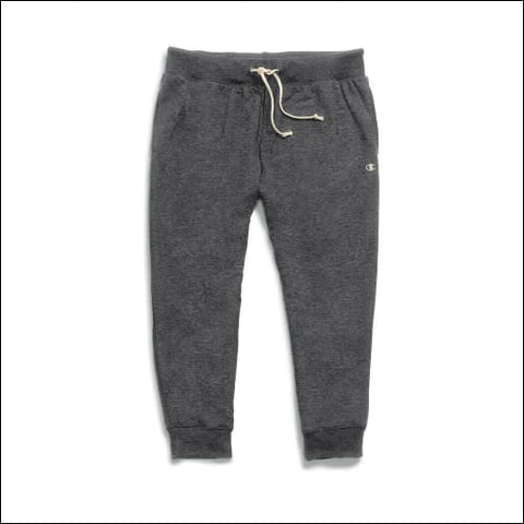 Champion Womens French Terry Jogger Capris - Granite Heather / S - Champion 090563290086