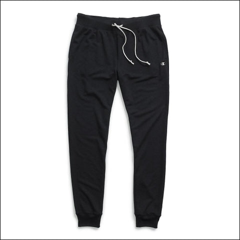 Champion Womens French Terry Jogger Pants - Black / S - Champion 0090563300075