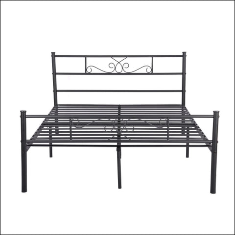 Cheerwing Easy Set-up Premium Metal Bed Frame Platform Box Spring Replacement with Headboard and Footboard Multiple Sizes Multiple Colors -