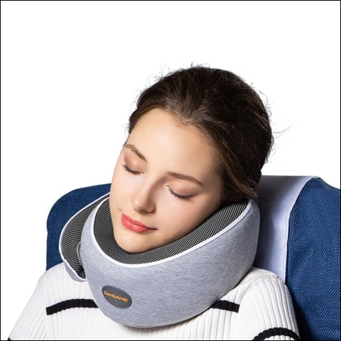 ComfoArray Head Support Travel Pillow- More Supportive Design Travel Pillow for Airplane Travel 100% Memory Foam Adjustable According to