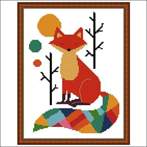 Cross Stitch Stamped Kits Pre-Printed Cross-Stitching Starter Pattern for Beginners Adults 14CT Embroidery Kits Needlepoint Kits The Seven
